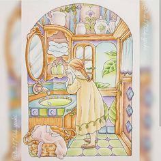 Pattern Illustration, Happy Girls, Ghibli, Cute Drawings, Cute Art, Coloring Books, Folk Art, Concept Art, Anime Art