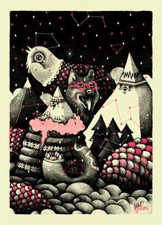 Affiche style sérigraphie - Jeanspezial - L'Affiche Moderne