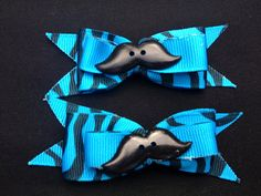 Mustache Dog Hair Bows by LucyLous22 on Etsy, $4.00
