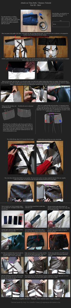 AoT Belts/Harness Tutorial - Part III - Skirt by neptunyan.deviantart.com on @deviantART