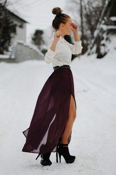 Maxi Skirt + Booties