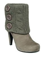 Knitting idea: Knit bootie warmers with buttons to add on to boots! ...If I could knit!