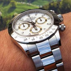 Rolex Daytona Cosmograph 166520, a sporty chronograph watch in stainless steel
