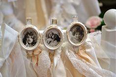 MadeByDara / vintage štipec s fotkou aj svadobný