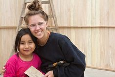 Building Homes in Las Laderas Peru - Megan and Gina become fast friends.