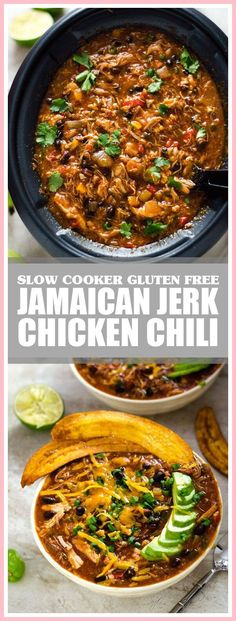 52 New Ideas Dairy Free Recipes Slow Cooker Chicken Chili Jerk Chicken Crockpot, Chicken Chili, Slow Cooker Chicken, Crockpot Dishes, Crockpot Recipes, Dairy Free Recipes Slow Cooker, Turkey Tenderloin Recipes, Slow Cooker Chili, Jamaican Recipes