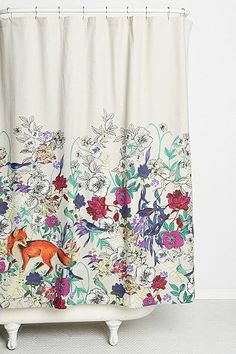 my heart. Plum & Bow Forest Critters Shower Curtain