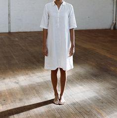 shirt linen dress, minimal, summer spirit, barefootliving