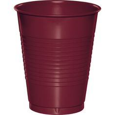 Touch of Color Dark Red Burgundy Purple 16 oz Solid Color Disposable Plastic…