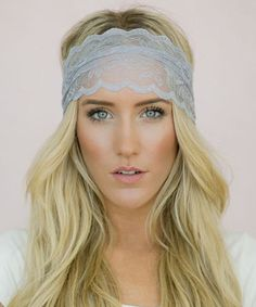 Look what I found on #zulily! Light Gray Floral Lace Headband - Women #zulilyfinds