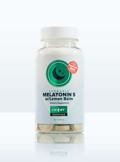 "Melatonin 5 with Lemon Balm - The ""On-Demand"" Sleep Hormone Supplement  Ingesting supplemental melatonin can help the body signify to you, in an 'on demand' manner, when it is time for your body to sleep. In assisting the body's natural desire to rest, the melatonin can help you to enjoy a more restful sleep experience. By placing the melatonin in a unique chewable tablet, with the traditional relaxation herb lemon balm, cloaked in the breath friendly flavor of peppermint you have a fast…"