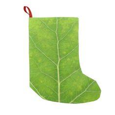 Green Aspen Leaf #11 Small Christmas Stocking - christmas stockings merry xmas cyo family gifts presents