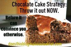 The cake beat me.