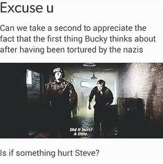Steve Rogers Bucky Barnes stucky???????? After Steve rescued rescues Bucky from hydra