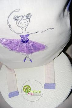 Zainetto bimbo ballerina in viola