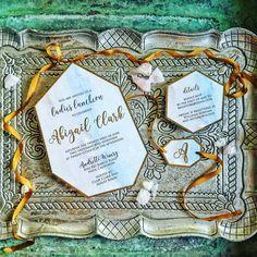 Geometric Agate Wedding Invitation - Boho Wedding Invitation - Crystal Wedding Invitation - Wedding Invitation - TheFindSac by BlushandBirchPaper on Etsy https://www.etsy.com/listing/482397207/geometric-agate-wedding-invitation-boho