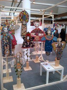 Paper Dolls, Art Dolls, Creative Textiles, Art Textile, Fabric Art, Surface Design, Fiber Art, Art Pieces, Projects To Try