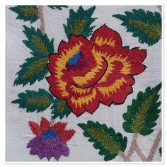 . The part of an embroidered floral design. Rushnik (rushnyk), Ukraine,1950. . #украина #ethnic  #вышивка  #Ukraine #Українa #рушник #design #Ukrainian #embroidery #handmade #вишивка #europe #европа #folk #folkart  #stitchart #stitching #embroideryart #handembroidery #flower