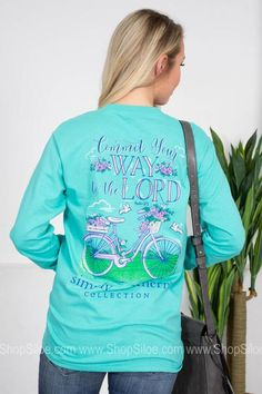 Psalm 37:5  | Mint | Simply Southern Southern Sayings, Simply Southern Tees, Southern Belle, Psalm 37, Hoodies, Sweatshirts, Fashion Brand, Long Sleeve Shirts, Mint