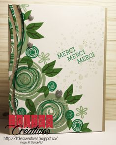 Swirly bird stamps set Stampin'Up! Clean and simple card. http://foliescreatives.blogspot.ca/