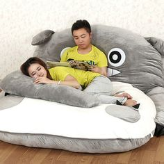 Snuggle Up In These Giant Minion And Totoro Convertible Beds