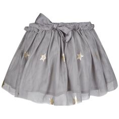 Stella McCartney Girls Grey Tulle Star Skirt