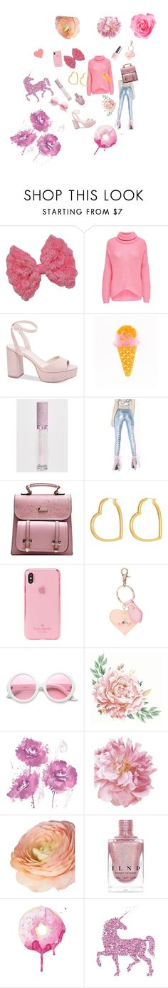 """""""Pretty in Pastel pink ! 🦄🦄"""" by papilliongirl ❤ liked on Polyvore featuring JDY, Chinese Laundry, Lime Crime, Sugar Thrillz, OPI, Henri Bendel, Kate Spade, Vivienne Westwood, ZeroUV and iCanvasART"""
