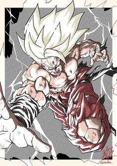 Dragon Ball Z, Akira, Goku Y Vegeta, Z Tattoo, Dibujos Anime Chibi, Goku Manga, Ball Drawing, Pixel Animation, Fan Art