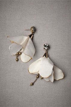 Beautiful Jewelry Danseuse Earrings in SHOP Sale at BHLDN - Like skirted ballerinas, Tataborello's floral pair sway and twirl in a graceful dance. Handmade in Italy. Also available in blue Style Diy Jewelry, Jewelry Box, Jewelry Accessories, Fashion Accessories, Jewelry Design, Fashion Jewelry, Jewelry Making, Jewellery Rings, Jewelry Stores