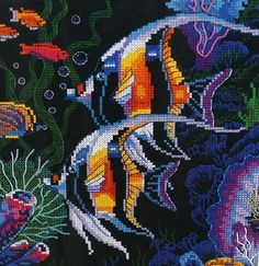Dimensions Stamped Ocean Cross Stitch Pattern by OrangeDogVintage, $29.00