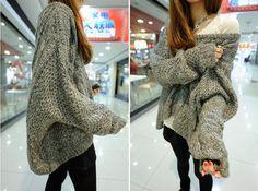 oversize Knit Sweater Women/bat/020 by RALstyleSHOP on Etsy