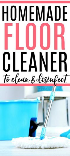 Get rid of dirt and grime easily with this homemade floor cleaner. It smells great and cleans better than the store brands. Spend less time cleaning with this easy mop solution. Deep Cleaning Checklist, Deep Cleaning Tips, Green Cleaning, House Cleaning Tips, Spring Cleaning, Homemade Cleaning Products, Cleaning Recipes, Natural Cleaning Products, Cleaning Hacks