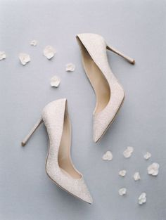 Classic wedding shoes - white heels for bride {Palm & Pine Events} Designer Wedding Shoes, Bridal Wedding Shoes, Wedding Engagement, Wedding Dresses, Glass Slipper, Newport Beach, Bridal Looks, Event Planning, Classic Weddings