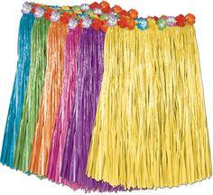 Child Artificial Grass Hula Skirts - 12 Units