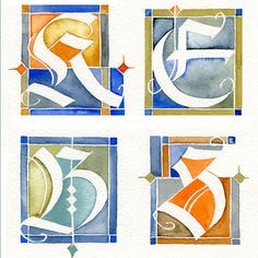 Adolf Bernd - in conclusion - Lin Kerr - Artist - Bourke Bains Calligraphy Types, Calligraphy Letters, Typography Letters, Modern Calligraphy, Creative Lettering, Lettering Design, Illuminated Letters, Illuminated Manuscript, Beautiful Lettering