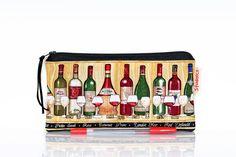 Wine pencil case Winery makeup bag Italian zipper by TheDutchLoft