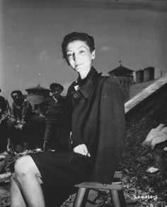 """"""" Hungarian actress Livia Nador after being liberated from the Gusen concentration camp in Linz, Austria. """" Towards the end of the war, Gusen was folded into the Mauthausen-Gusen camp system and some consider Gusen to one of most brutal of the. Women In History, World History, Jewish History, Ww2 History, Interesting History, Before Us, World War Two, Historical Photos, Wwii"""