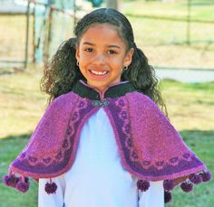Ravelry: Frozen Inspired Anna's Capelet pattern by Bridget Pupillo. Make it with Lion Brand Wool-Ease!