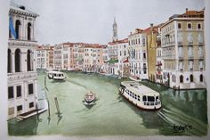 #MyViews - Evening in Venice#4 // Entardecer em Veneza - Watercolours // Aguarelas http://drverdades.simplesite.com
