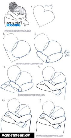 How to Draw Two People Hugging : Drawing Hugs Step by Step Drawing Tutorial - Pi. - How to Draw Two People Hugging : Drawing Hugs Step by Step Drawing Tutorial – Pinehouse – How - Drawing Techniques, Drawing Tips, Drawing Sketches, Drawing Ideas, Drawing Art, Sketching, Drawing Poses, Drawing Reference, Pose Reference