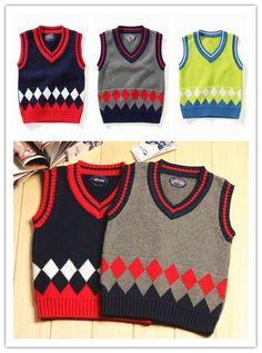 Denim Vest Kids Children Vests Crochet V Neck Kids Clothes Cotton Knitted Sweater Vest Pullover Vest Korean Style Fit 1 4t Toddler Boys Sweater Vest From Comeonamilylee, $32.68| Dhgate.Com