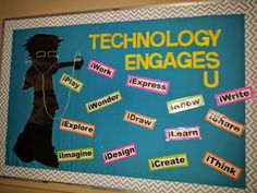 bulletin boards for technology | found this adorable poster at my local teacher store and printed out ...