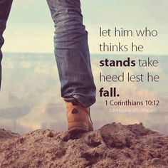 Image result for 1 Corinthians 10:12
