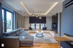 DOM W OKOLICACH PŁOCKA - Duży salon, styl nowoczesny - zdjęcie od DALMIKO DESIGN Pracownia Projektowa