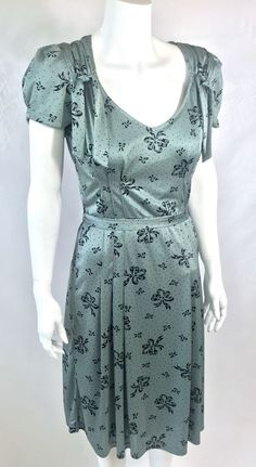 Betsey Johnson Vintage Retro 1940's Polka Dot Bows Pin Up Dress 8 | eBay
