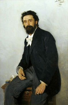 Vladimir Makovsky (1846–1920) - Portrait of a painter Sergey Korovin - 1892 oil on canvas, National Museum in Warsaw, Poland