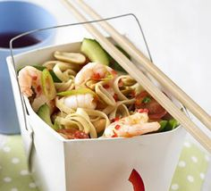 Prawn sweet chilli noodle salad - BBC Good Food - This low-fat salad is is great for a picnic, lunchbox or even a buffet