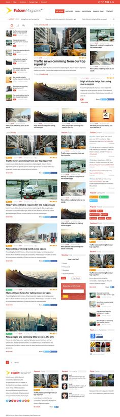 Falcon - Responsive WordPress Magazine Theme | #wordpresstheme #wordpresstemplates #wptheme #wptemplates #wordpress #ecommerce #woocomerce #wordpressmagazine | Live Preview and Download: http://themeforest.net/item/falcon-responsive-wordpress-magazine-theme/8565564?WT.ac=category_thumb&WT.z_author=wellthemes&ref=ksioks
