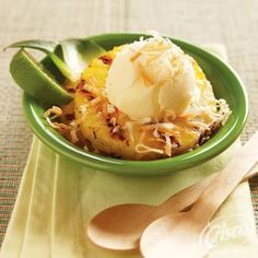 Mix up dessert with Grilled Pineapple with Coconut and Lime from Crisco®.