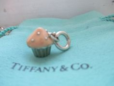 dc7185f90 Authentic Rare Tiffany & Co Sterling and PInk Cupcake Charm Pendant  with jump ring with. Tradesy